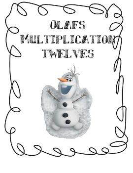 Twelves (12) Multiplication Game with Olaf