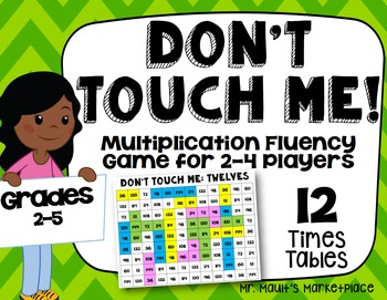 Twelves Times Tables: Don't Touch Me! Multiplication Fact
