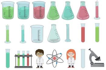 Twenty One Science Lab, Clip Art Accompanied by Two Little