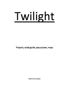 Twilight project and study guide packet