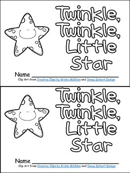 Twinkle, Twinkle Little Star Book, Poster, & MORE - Kinder