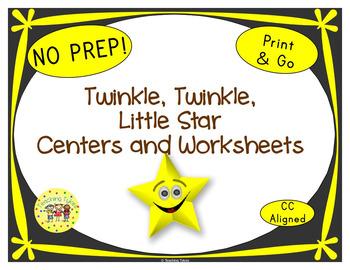 Twinkle Twinkle Little Star Worksheets Activities Games Pr