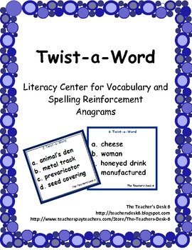 Twist-a-Word Literacy Center for Vocabulary and Spelling R