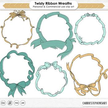 Twisted Ribbon Frames, Ribbon Circle Borders