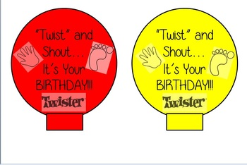 Twister Birthday Balloons