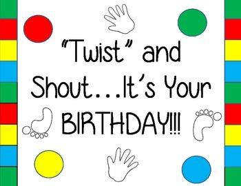 Twister Birthday Pack