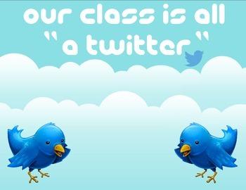 Twitter Classroom Sign
