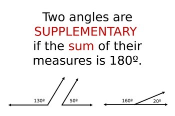 Two Angles are Supplementary