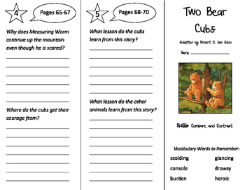 Two Bear Cubs Trifold - Storytown 3rd Grade Unit 4 Week 1
