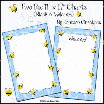 """Two Bee 11"""" x 17"""" Charts"""