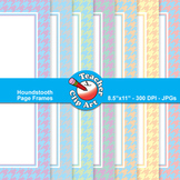 Two-Color Houndstooth Page Frames — Pastel Colors (13 Frames)