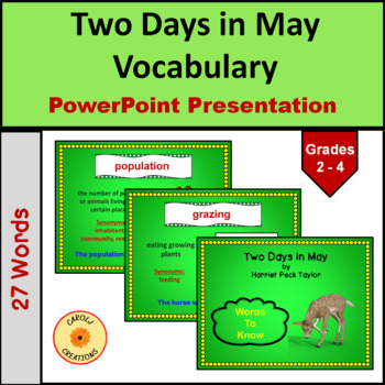 Two Days in May Vocabulary PowerPoint