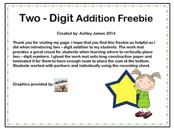 Two- Digit Addition Introduction Freebie
