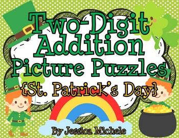 Two-Digit Addition Picture Puzzles {St. Patrick's Day}