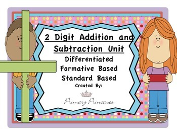Two Digit Add and Subtract Unit Differentiated/Formative B