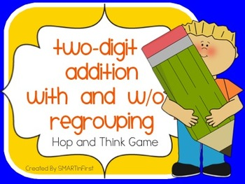 Two Digit Addition With and Without Regrouping Hop and Think Game