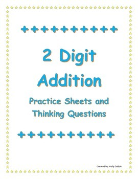 Two Digit Addition Worksheet Pack