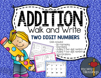 Two Digit Addition Write the Room, Scoot