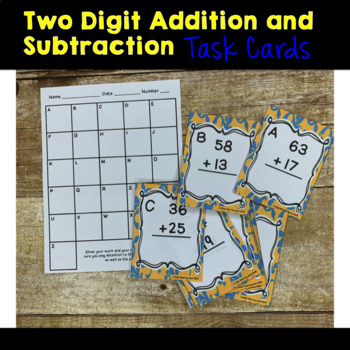 Two Digit Addition and Subtraction Scoot