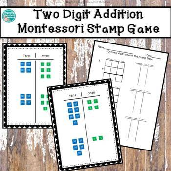Two-Digit Dynamic Addition with the Montessori Stamp Game