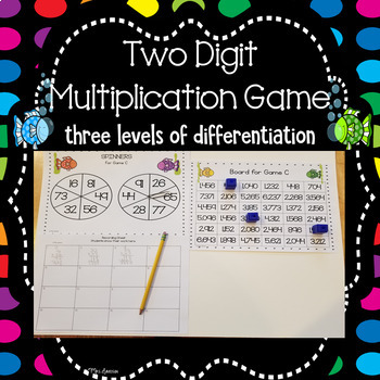 Two Digit Multiplication Spinner Game