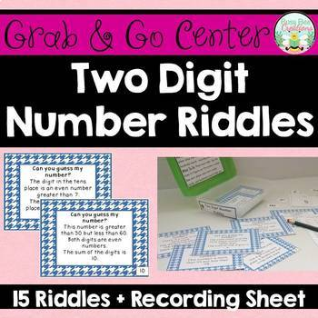 Two Digit Number Riddles - Place Value