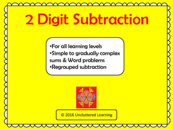 2 Digit Subtraction (Simple and Regrouped)