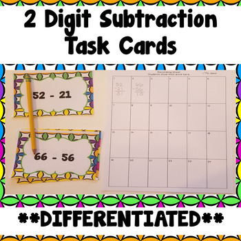 Two Digit Subtraction Activity