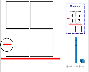 Two-Digit Subtraction with Regrouping Mats Smart Board
