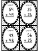 Two-Digit With Regrouping Task Cards - Great for SCOOT!  G
