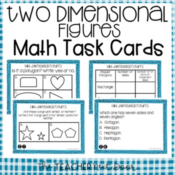 Two Dimensional Figures Task Cards for 5th Grade