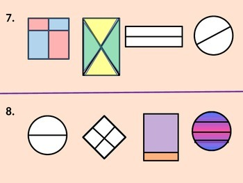 Two-Dimensional Shapes.  Equal and Unequal Parts for Visua