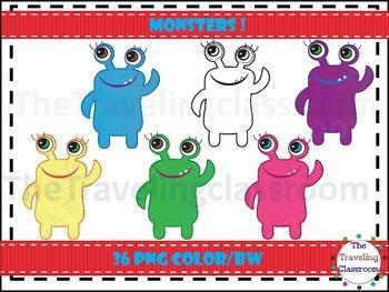 Two Eyed Monster Clip Art