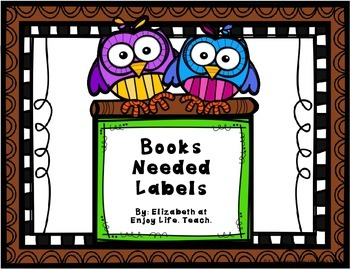 Two Owls Books Needed Labels