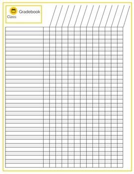Gradebook, Student Checklist Printable Pages, 13 Designs &