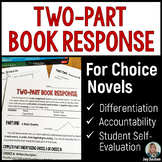 Book Report: Two-Part Book Response for Independent Novels