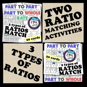 Two Ratio Sorting Activities - Cut, Sort and Paste