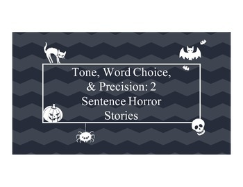 Two Sentence Horror Stories - Word Choice, Precise Languag