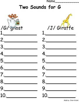 Two Sounds For G Sort