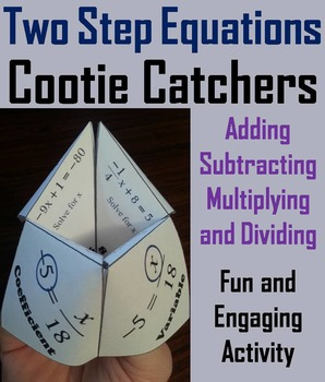 Solving 2 Step Equations Game Activity for 6th, 7th, 8th,
