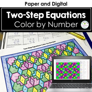 Algebraic Equations (Two-Step) Color by Number