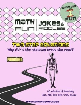 Two Step Equations FUNsheet - Halloween Ready!