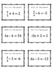 Two-Step Equations (Inverse Operations) MATH Bingo