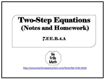 Two-Step Equations Notes and Homework