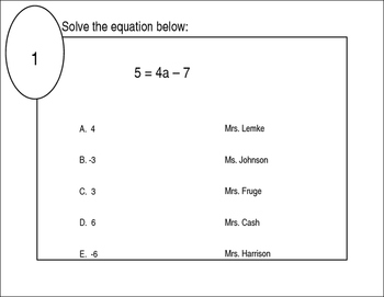 Two Step Equations Stations