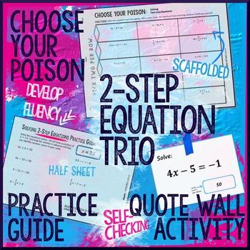 Two Step Equations Trio