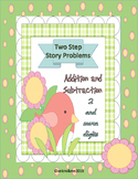 Two-Step Math Story Problems Addition and Subtraction with