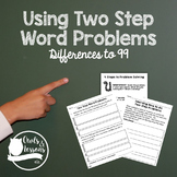 Two Step Subtraction with and without Regrouping Word Problems