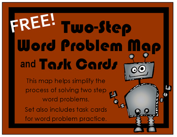 FREEBIE!  Two-Step Word Problem Map and Task Cards
