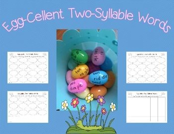 Two-Syllable Word Literacy Center Pack